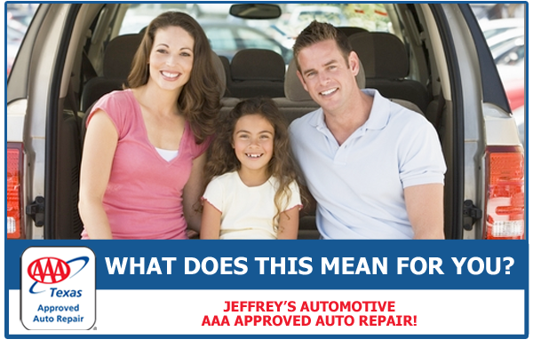 Jeffrey's Automotive is the largest AAA-approved repair facility in the North Fort Worth /  Watauga / Keller area.