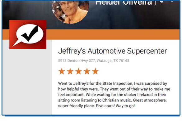 Fort Worth customer appreciates Christian values of mechanic