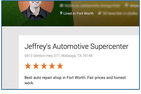 \Jeffrey's Automotive is the best auto repair shop in Fort Worth