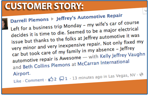 "Saginaw Customer: ""Jeffrey's Automotive is Awesome!"""