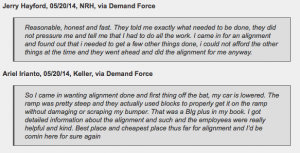 Keller and NRH customers find good experience at alignment shop