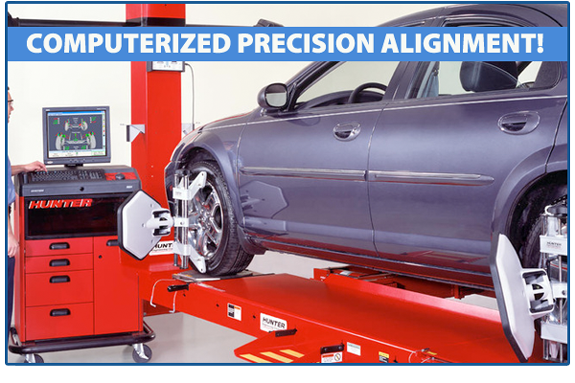 Jeffrey's employs two Hunter 811 Laser Wheel Alignment Systems on site ensuring our customers a precision alignment.