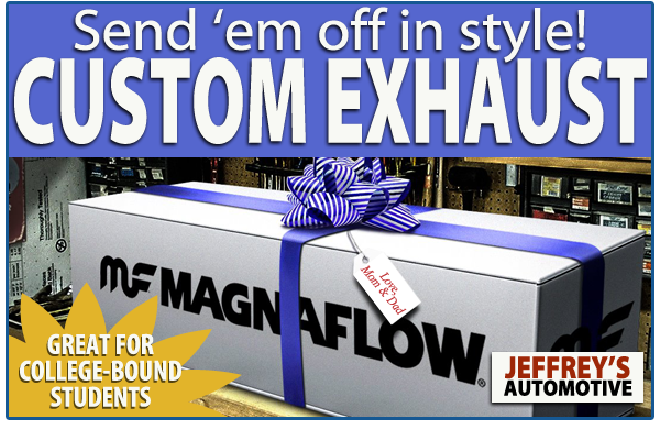 Fort Worth Custom muffler: Upgrade the exhaust for your college-bound child