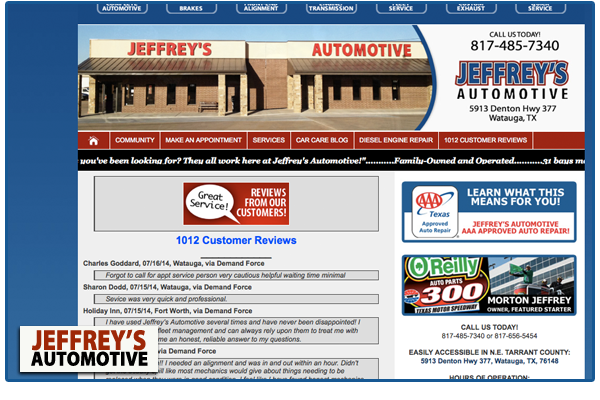 Two Fort Worth customers name Jeffrey's as honest mechanics