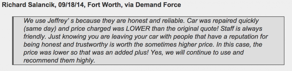 Fort Worth mechanic has reputation for being honest and trustworthy
