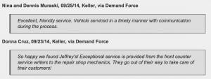 Keller customers love their mechanic