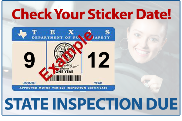 Check Your Inspection Sticker Date! Jeffrey's is an Official Vehicle Inspection Station