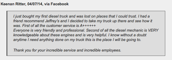Diesel truck repair in Fort Worth - customer review