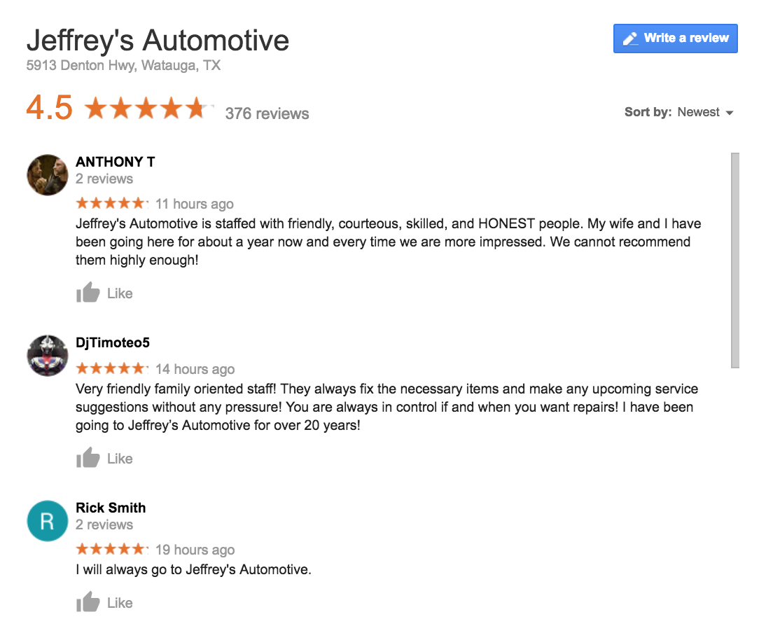 Jeffrey's Automotive