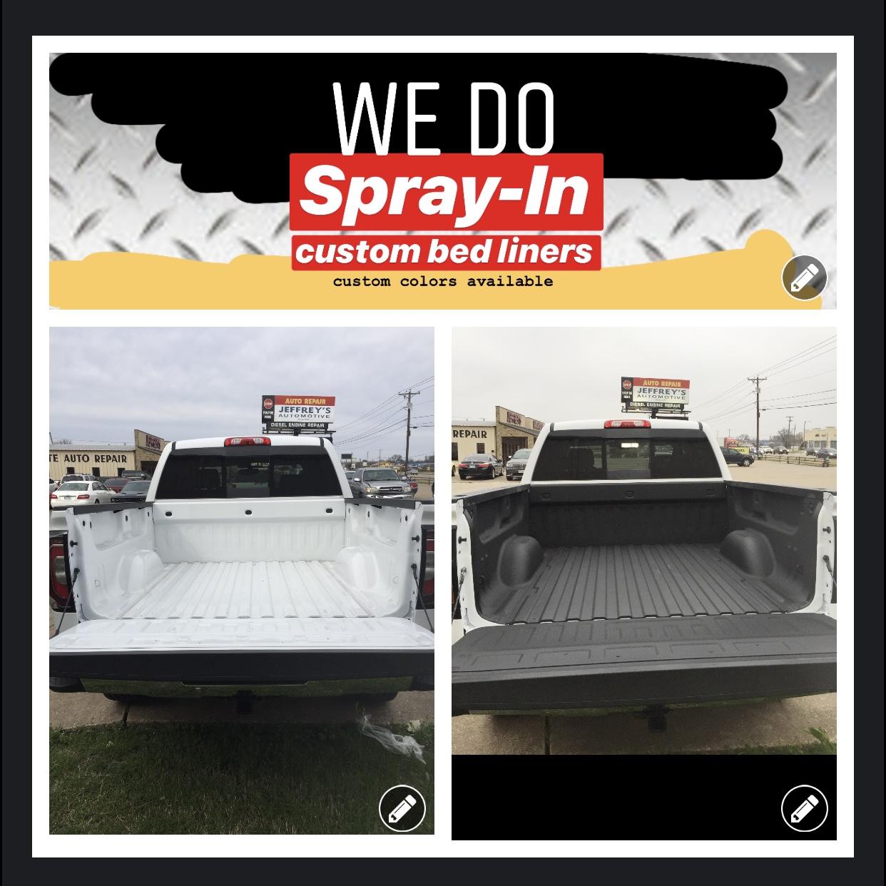 Jeffrey's Sprayed-in Custom Bed Liners