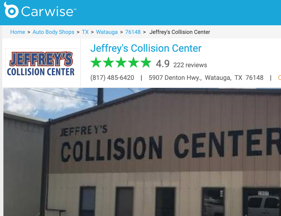 Collision Center in Watauga, TX