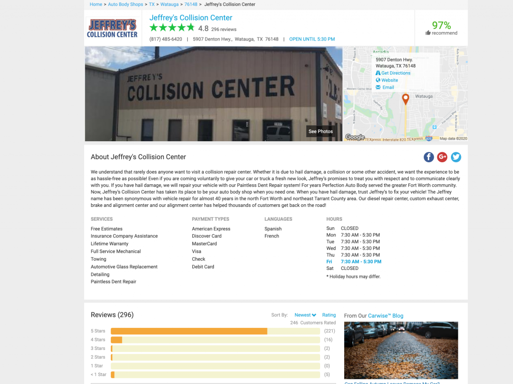 Jeffrey's Collision Center